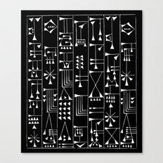 Tribal Grid 1 Canvas Print