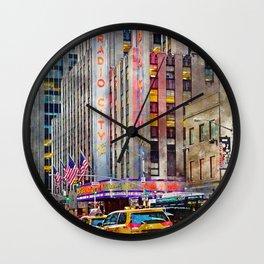 Radio City NYC Wall Clock