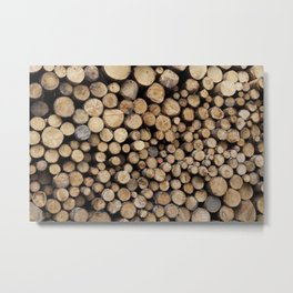 Wooden logs Metal Print