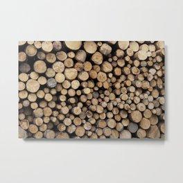 Wooden logs Metal Print