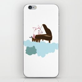 Pig Cloud-playing. Joy in the clouds collection iPhone Skin