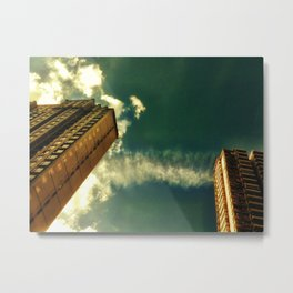 Clouds Join Buildings Metal Print