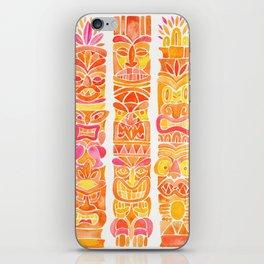 Tiki Totems – Orange Ombré iPhone Skin