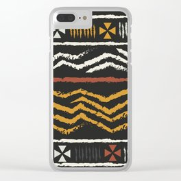African Tribal Pattern No. 84 Clear iPhone Case