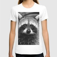 racoon T-shirts featuring Racoon B & W by Heidi Ingram
