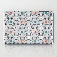 headphones iPad Cases featuring Headphones Pattern by littletree designs