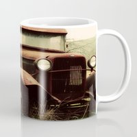 ford Mugs featuring Vintage Ford by Urban Frame Photography
