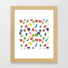 colourful alphabet Framed Art Print