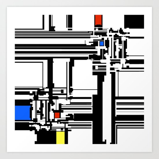 Mondrian inspired design  Art Print