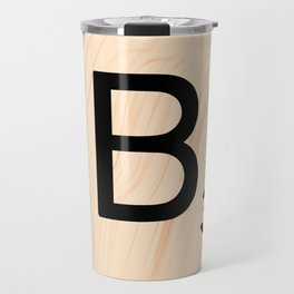 Scrabble Letter B - Large Scrabble Tiles Travel Mug