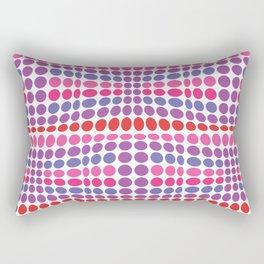 Dottywave - Red Pink Purple wave dots pattern Rectangular Pillow