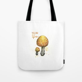 Yellow Fly Agaric Tote Bag