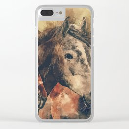 My horses are amazing Clear iPhone Case