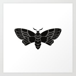 Death's Head Moth Traditional Tattoo Art Print