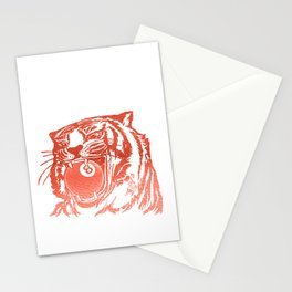 8 Ball Tiger - Red Stationery Cards
