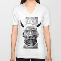pocket fuel V-neck T-shirts featuring Nightmare Fuel by Danielle Brady
