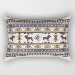 Boho dogs   French bulldog tan Rectangular Pillow