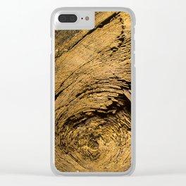Wood Trunk Closeup Clear iPhone Case