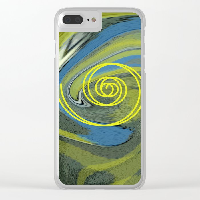 Abstract Owl Portrait Clear iPhone Case