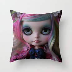 Sweet Death Shinigami (Ooak BLYTHE Doll) Throw Pillow