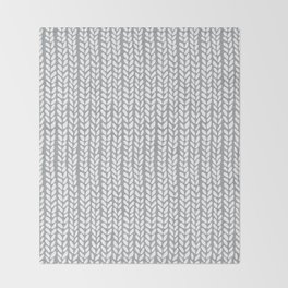 Knit Wave Grey Throw Blanket