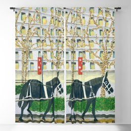 Carriage Ride on Woodward Avenue Blackout Curtain