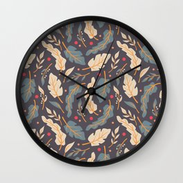 Vintage Floral Pattern 006 Wall Clock