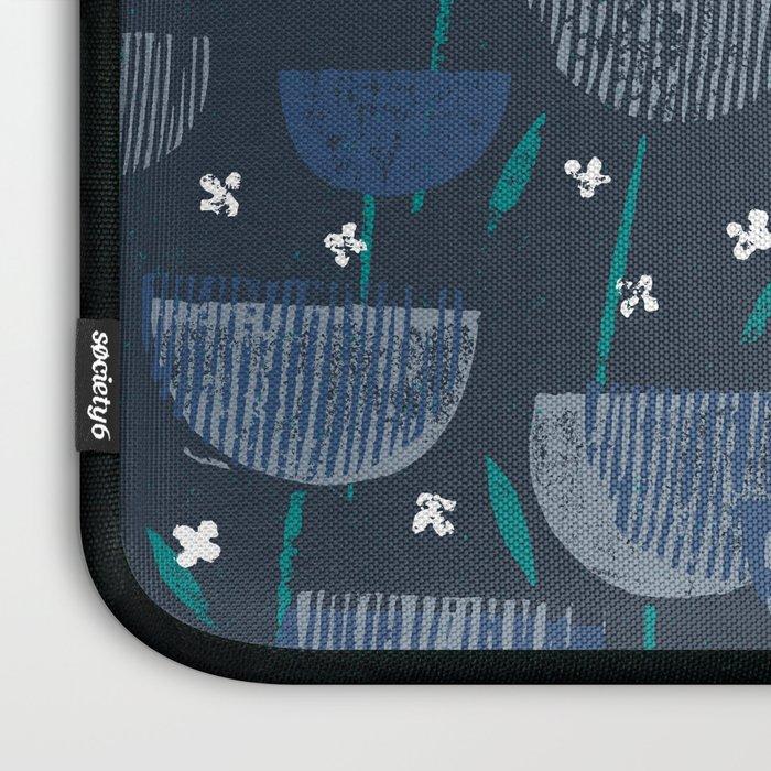 Botanical Block Print M+M Navy by Friztin Laptop Sleeve