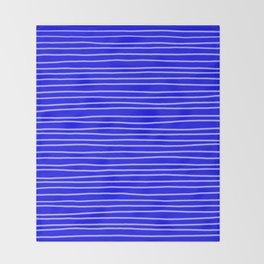 Cobalt Pinstripes Throw Blanket