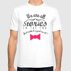 stories-doctor who White Mens Fitted Tee MEDIUM