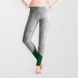 Geometric Concrete Arrow Design - Forest Green #326 Leggings