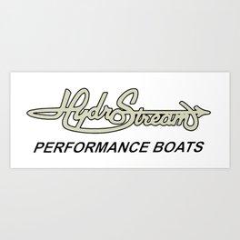 Hydrostream Boats Art Print