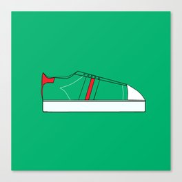 Low Top Green/Red Canvas Print