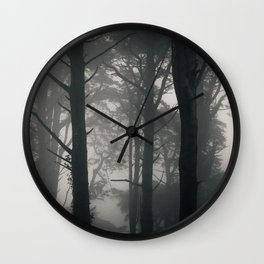 Spooky trees at Sintra forest, Portugal Wall Clock
