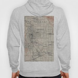 Vintage Map of Pasadena California (1894) Hoody