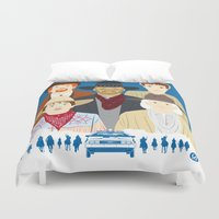 movies Duvet Covers featuring 1885 (Faces & Movies) by Alain Bossuyt