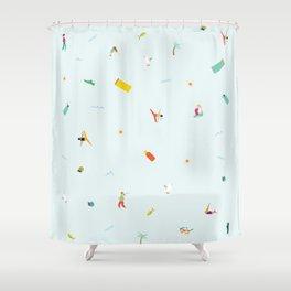 Yoga People Shower Curtain