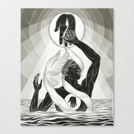 CREATION - MONOCHROME Canvas Print