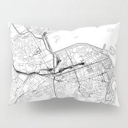Rio De Janeiro White Map Pillow Sham