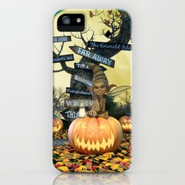 Pumpkin Gremlin iPhone Case