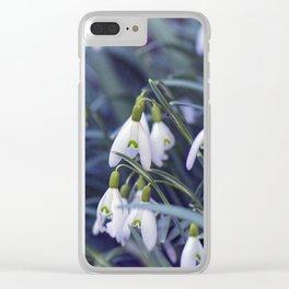 Snowdrop Flower Clear iPhone Case