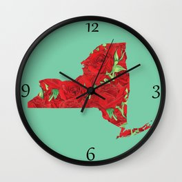 New York in Flowers Wall Clock