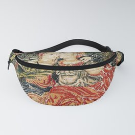 Franco Flemish Allegorical 17th Century Tapestry Print Fanny Pack