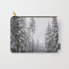 Hiking On A Snowy Trail Carry-All Pouch