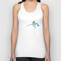 gamer Tank Tops featuring Gamer by OneBlueWolf