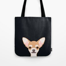 Misha - Chihuahua art print phone case gift for dog owner and dog people Tote Bag