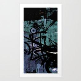 Retrollage 4.. Art Print