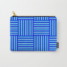 Havana Cabana - Blue Weave Stripe Carry-All Pouch