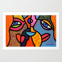 Eye to Eye Art Print