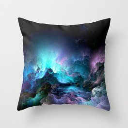 Unreal Stormy Ocean Throw Pillow